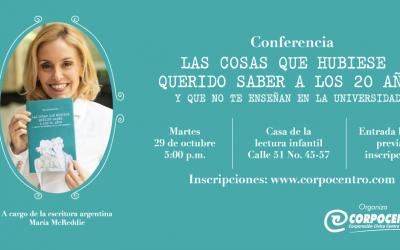 La escritora argentina María McReddie dictará conferencia en el centro de Medellín