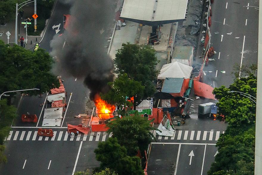 Rechazo a los actos vandálicos en el centro de Medellín